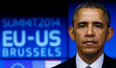 Obama, in Brussels, continued a campaign based on bad-mouthing Russia.