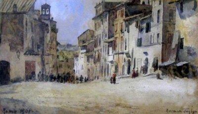 Via degli Zingari, Rione Monti, by Tayler Norman, 1901.