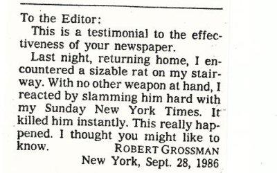 Letters editors sought rare wit.
