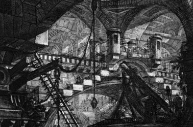 De Qincey said Piranesi was beset by malaria when he created the etchings.