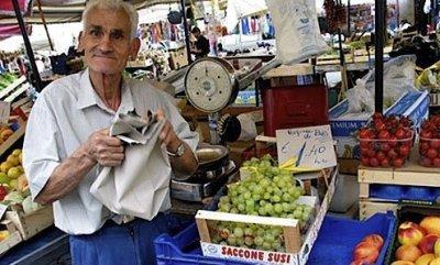 Rome, markets, fresh vegetables, Campo de' Fiori, Testaccio