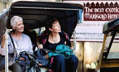 """Judi Dench in """"The Second Best Exotic Marigold Hotel."""""""