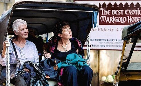 "Judi Dench in ""The Second Best Exotic Marigold Hotel."""