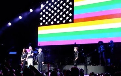 """The band decried the so-called """"bathroom law."""""""