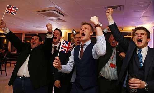 David Cameron's government came tumbling down.
