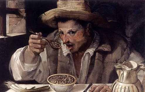 """Annibale Carracci's """"Mangiafagioli."""""""