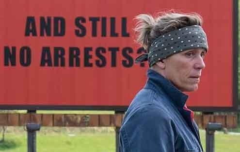 Frances McDormand's Mildred, an angry, grieving mother, make waves in a rural drama.