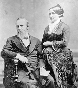 Rutherford B. Hayes and his wife Lucy
