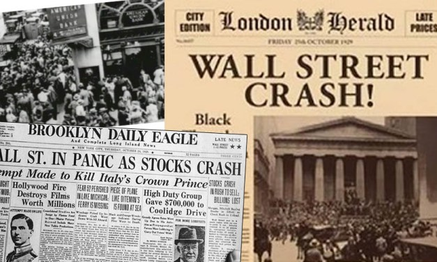 """Stock Market Crash """"Our Country & World are involved in More than a Financial Crisis"""" -Hoover"""