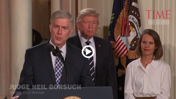 President Trump Nominates Neil Gorsuch to Supreme Court