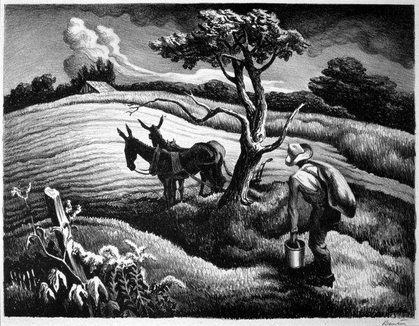 Approaching Storm Thomas Hart Benton Lithographs