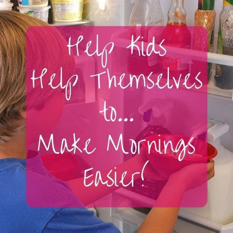 Make your morning easier by helping kids help themselves! Find out how at TheAnalyticalMommy.com!