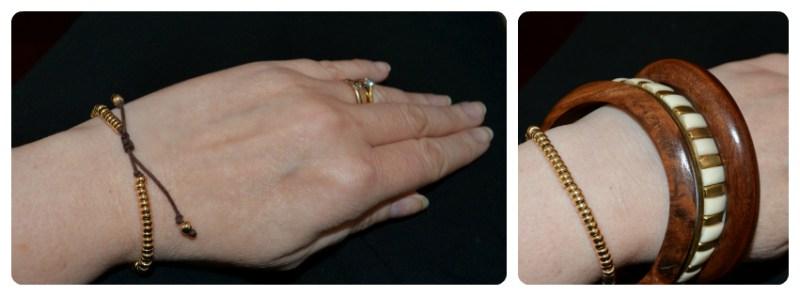 Olly M freindship Bracelet worn two ways