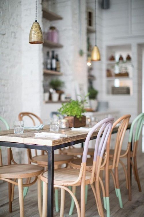 How gorgeous is this Dip Dye table and chairs. Infact love the whole look : Dining