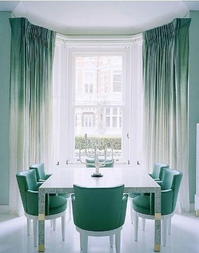 Jade dip dye Curtains