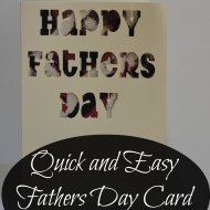 Quick and Easy Fathers Day Card : Cricut Explore