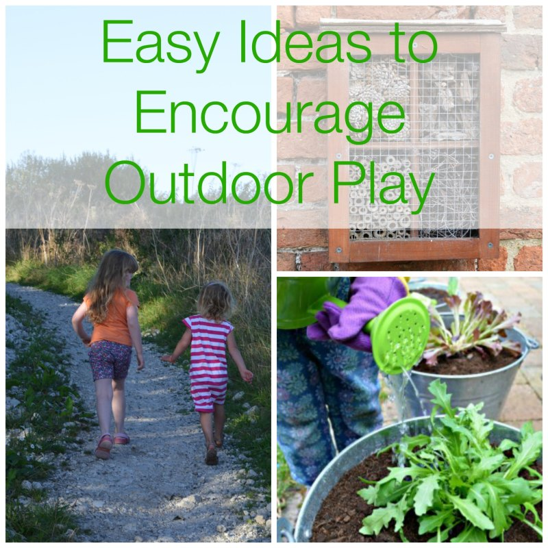 Easy ideas to encourage outdoor play with children