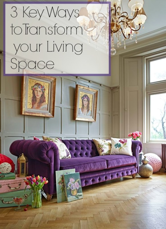 3 Key Ways to Transform your Living Space  Dying to give your lounge the VIP treatment? The main reason we tend to put off decorating is due to the effort involved. But sometimes it only takes a few minor changes to transform your living space for the better.