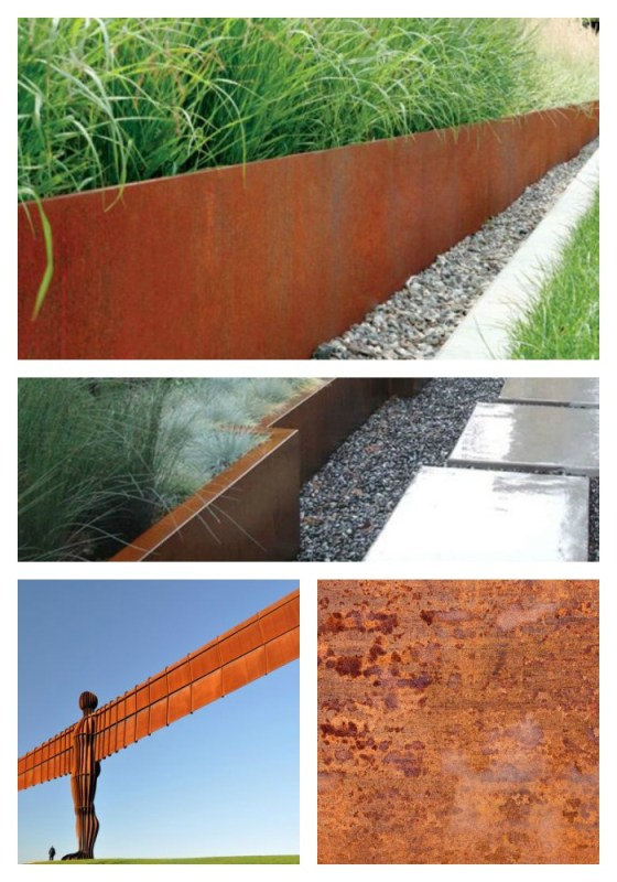 Bespoke planters in a copper hue for the garden, aged beautifully in time.