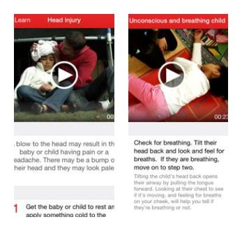 Red Cross App screen shots