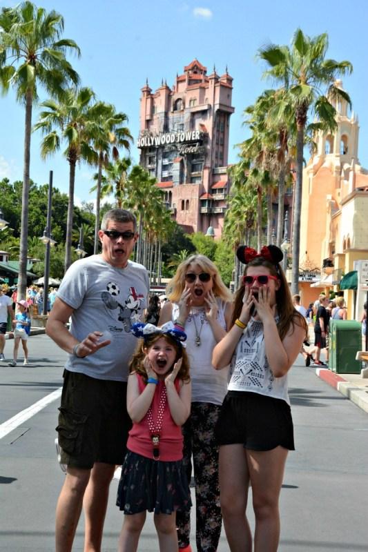 hollywood studios group shot whole family