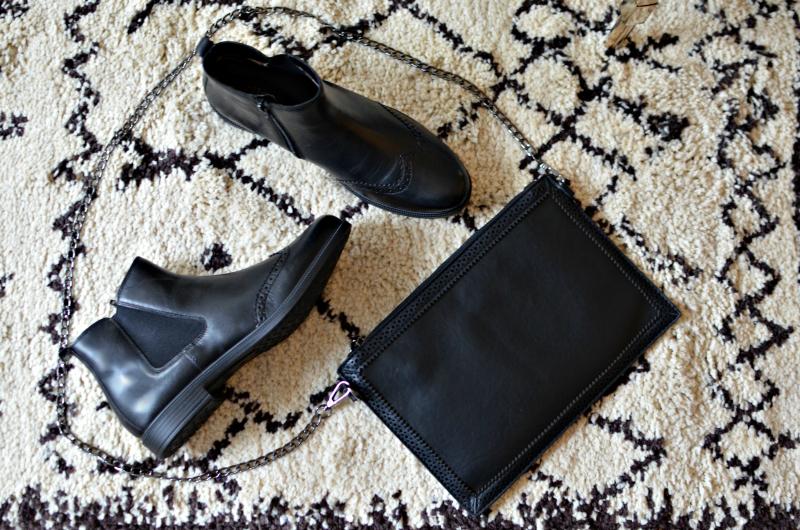 hotter shoes and handbag clutch bag