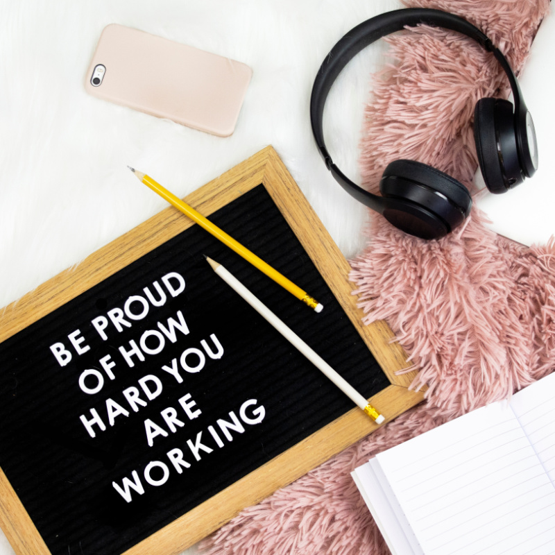 creating a smooth work flow - be proud of how hard you are working