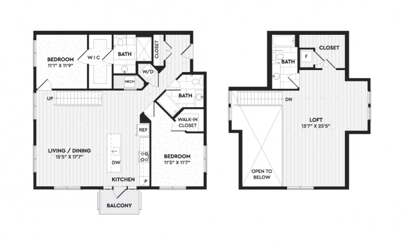 Available one, two, and three bedroom apartments in
