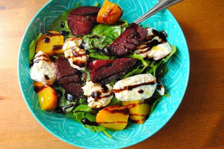Roasted Beet & Burrata Salad