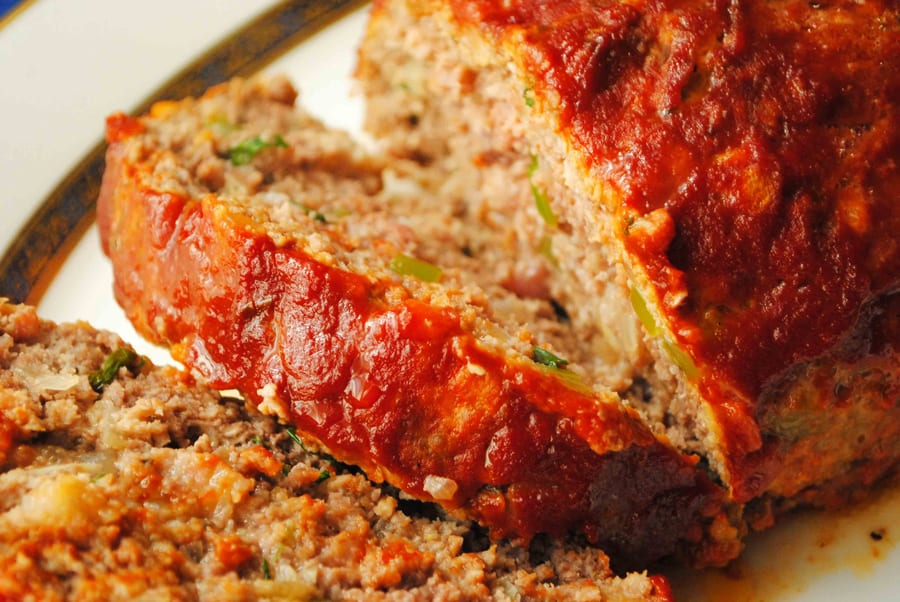 Three Meat Meatloaf