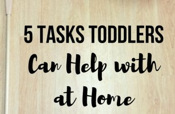 Even your one year old can help you out at home! See how I encourage and teach my son to help out around the house. All while teaching him responsibility & boosting his confidence!