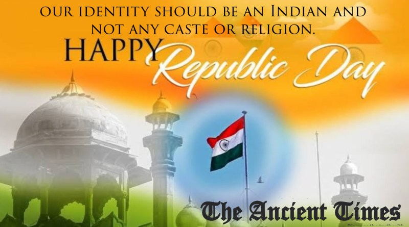 Be a proud Indian<br>Happy Republic Day