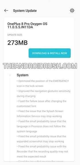 OnePlus 8 Pro OxygenOS 11.0.5.5 Update Screenshot - The Android Rush