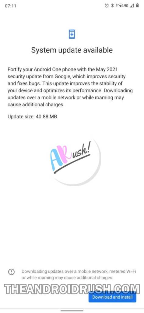 Xiaomi Mi A3 May 2021 Security Update Screenshot - The Android Rush