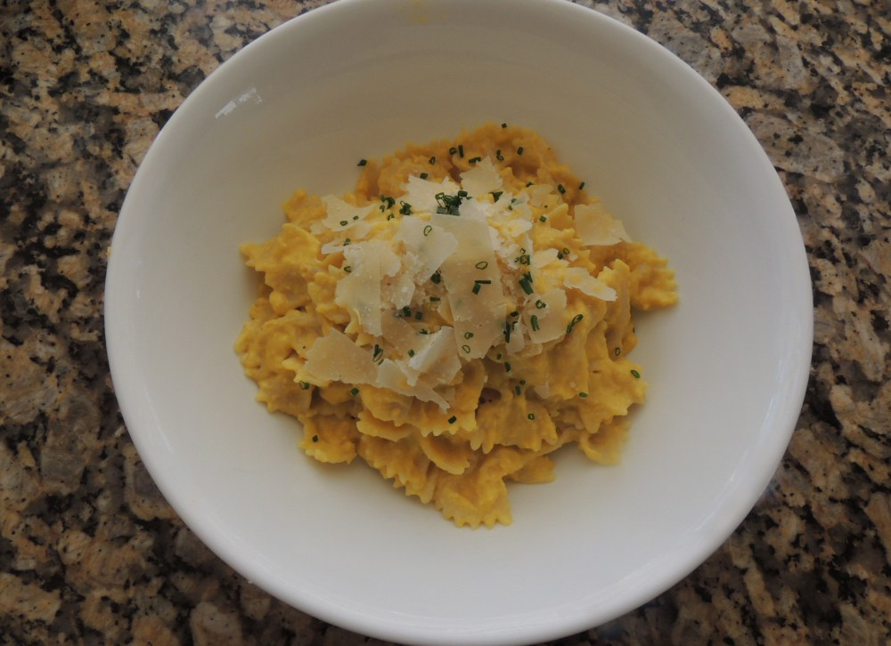 Creamed corn pasta