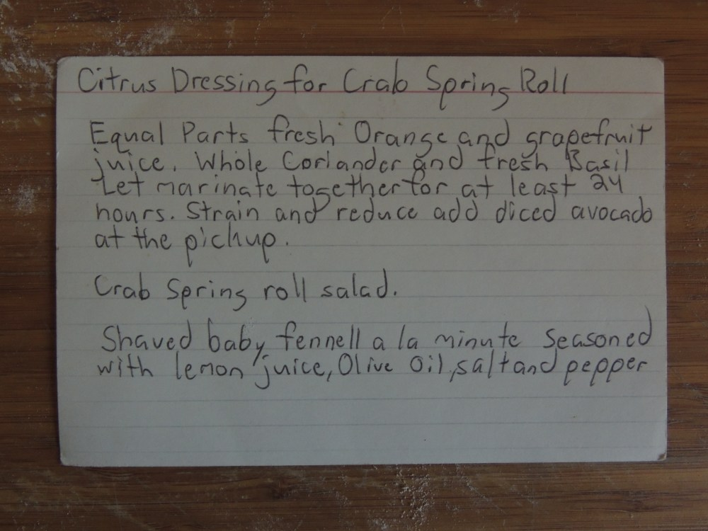SPRING ROLL DRESSING RECIPE