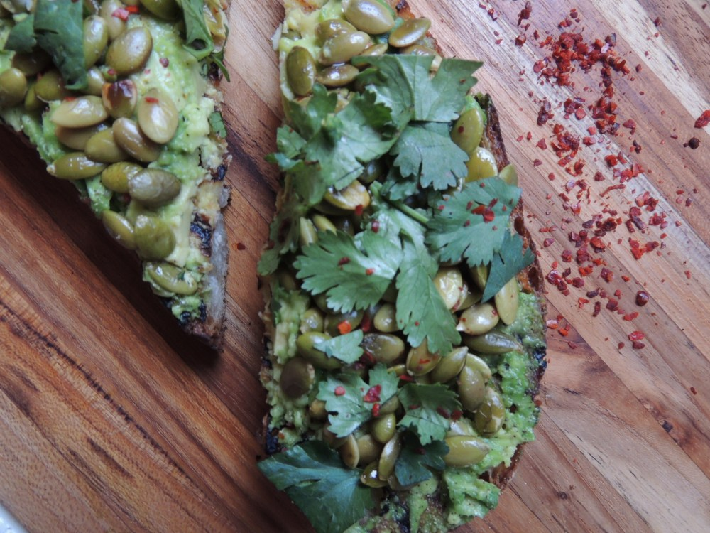 Avocado toast with Aleppo pepper