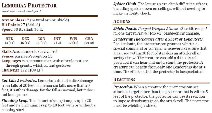 Lemurian Protector