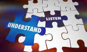 Listen Understand Learn Knowledge Puzzle Words 3d Illustration