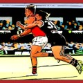 Jack Sinclair tackles Josh Begley one of The Animal Enclosure's Tough As moments from St Kilda's Rd 12 victory over Essendon in 2020.