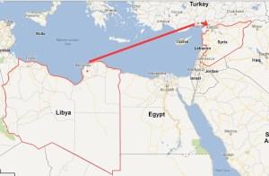 LibyaSyriaTurkeyMap
