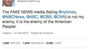 Enemy of the People Waging Psychological Warfare on Citizens