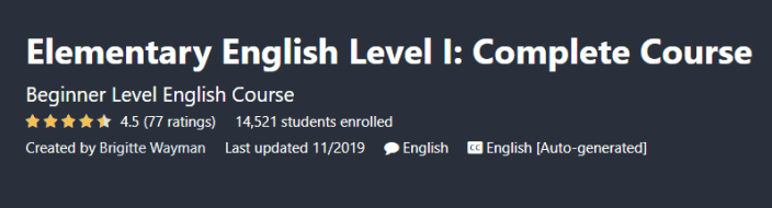 Elementary English Level I: Complete Course