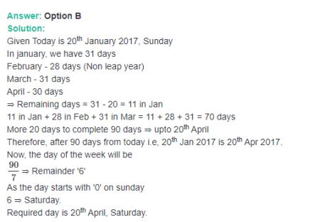 calendar aptitude