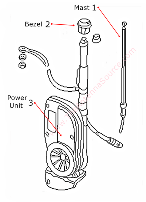 1995-1997 Jaguar XJ12 Antenna Parts, LNA4134AA, LNA4120AA