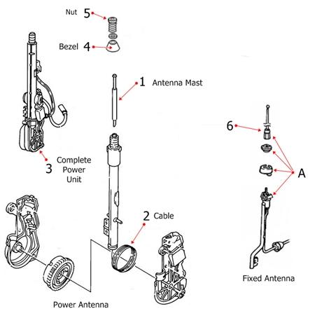 1988 1989 1990 1991 1992 Pontiac Firebird Antenna Mast