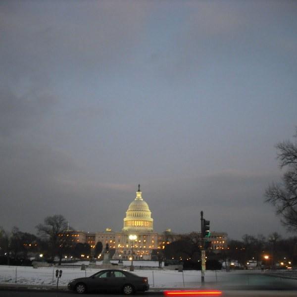 Washington DC Capitol Building at night
