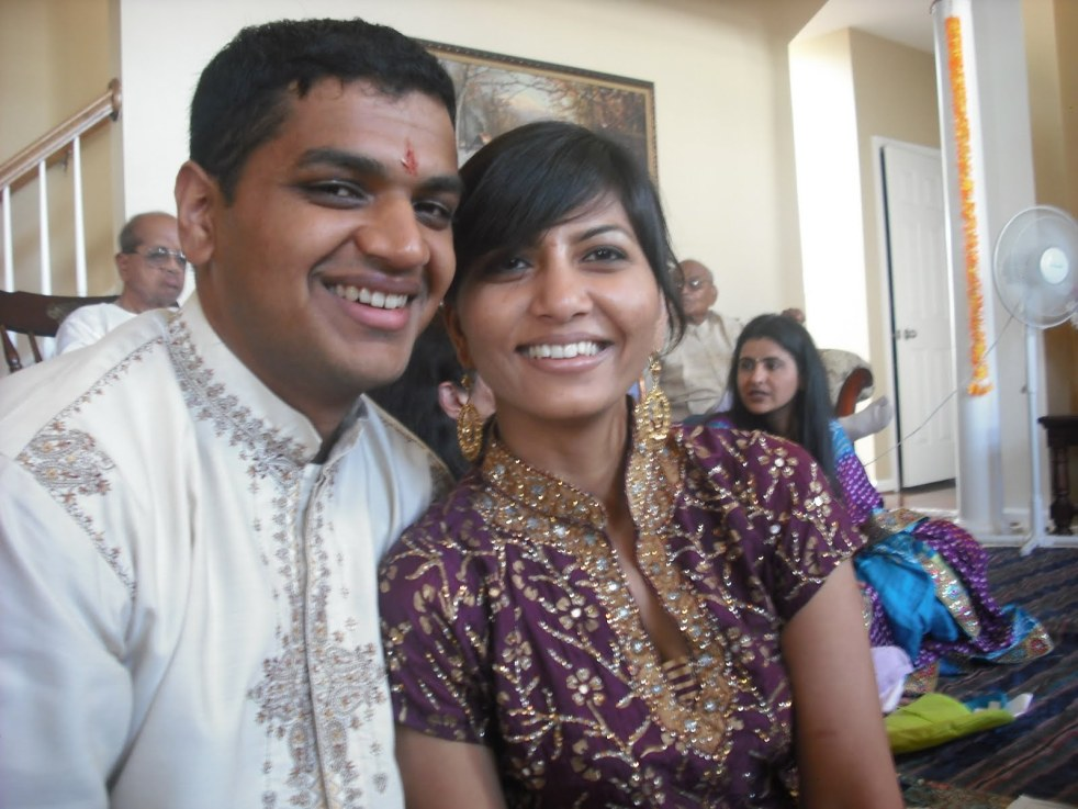 Devang and Chika during their wedding week in 2010