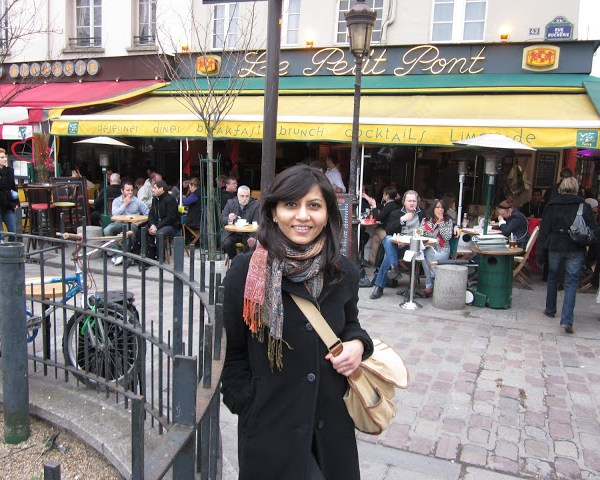 Hanging out on the left bank in Paris, France