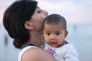 Asha and Chika at North beach in Chicago